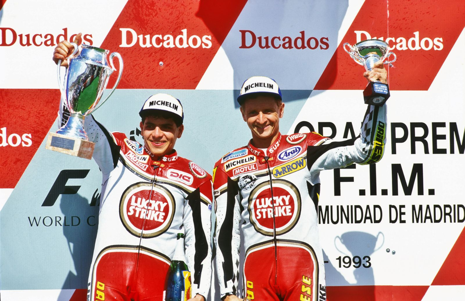 Barros and Schwantz, Jarama GP 1993